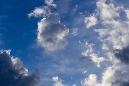 clounds and blue sky photo