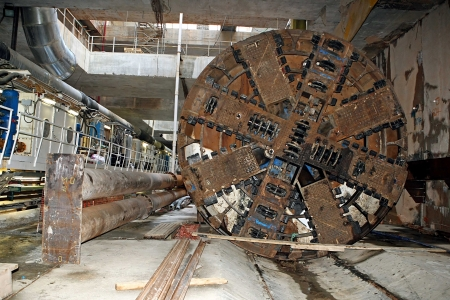 THESSALONIKI, GREECE - AUG 2, 2010: Works for the construction of metro in the center of town