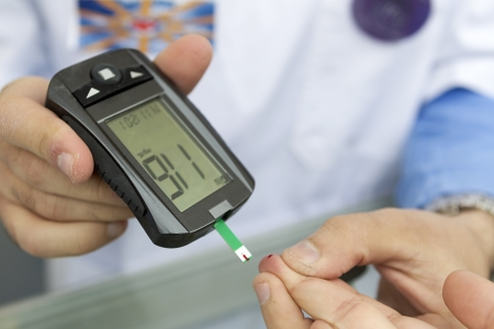 Measuring blood sugar with a blood glucose meter