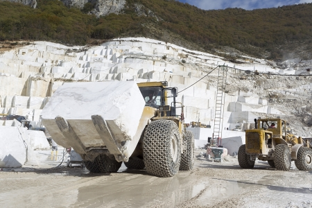 A loader in marble quarry photo