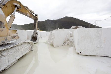 A loader in marble quarry Stock Photo - 16535942