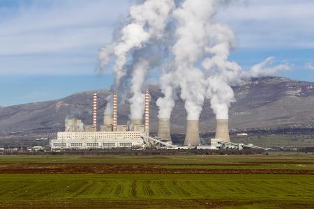 Kraftwerk in Kozani Griechenland Lizenzfreie Bilder