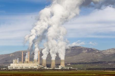 Electric power plant in Kozani Greece photo
