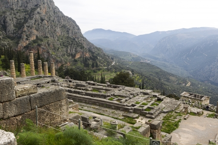 The Temple of Apollo in Delphi Greece Stock Photo - 19315156