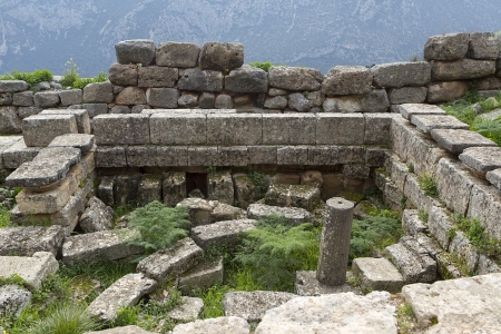 The Temple of Apollo in Delphi Greece Stock Photo - 19315059