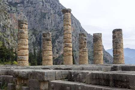 The Temple of Apollo in Delphi Greece Stock Photo - 19315112