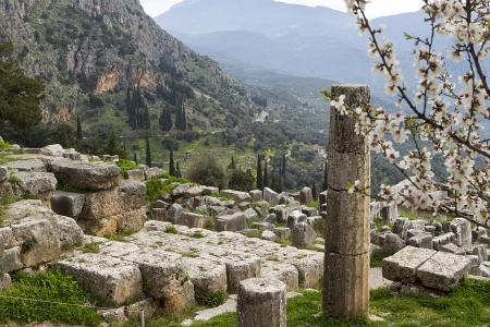 The Temple of Apollo in Delphi Greece Stock Photo - 19315052