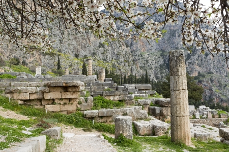 The Temple of Apollo in Delphi Greece photo