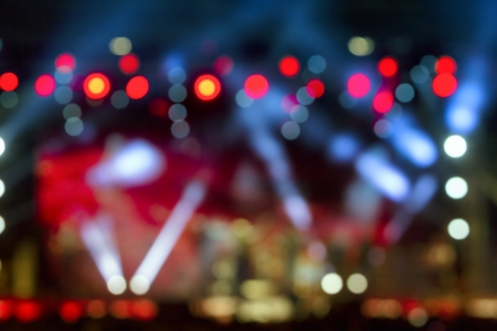 night spot: Defocused entertainment concert lighting on stage, bokeh
