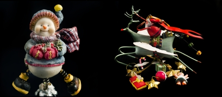 Christmas decoration, Santa Claus on black  photo