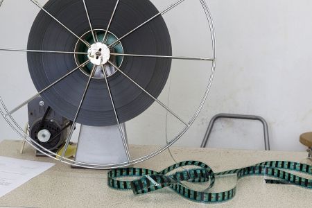 THESSALONIKI,GREECE–NOV 5:Old motion picture film reel during the TIFF on November 5, 2012. This festival is among the top film festivals of Europe and the oldest in the Balkans. photo