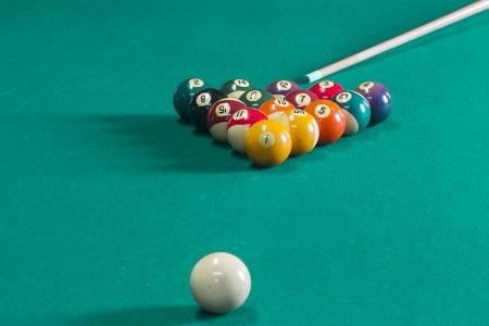 Billiard balls on table. photo