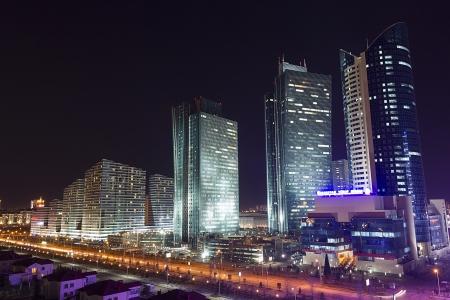 El centro de la ciudad de Astana - la capital de Kazajstán Editorial