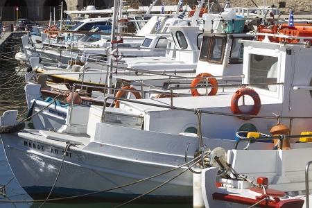 Fishing boats in the harbor of Heraklion