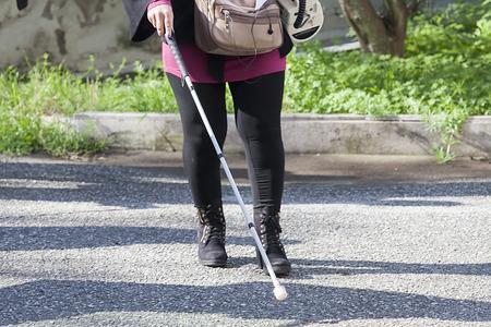 personas discapacitadas: Close up de mujer ciega