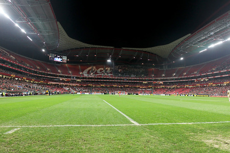portugese: LISBON, PORTUGAL FEB - 27, 2014 : Interior view of the full Estadio da Luz during the UEFA Europa League game Benfica SL vs Paok on February 27, 2014. Editorial