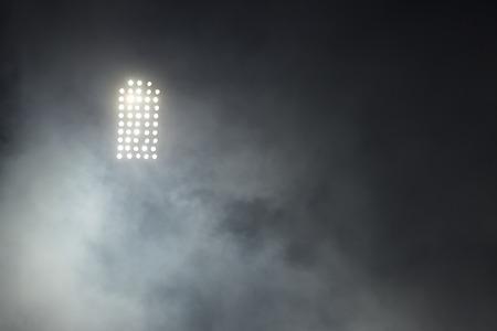 baseball stadium: Stadium lights against dark night sky backgroundon