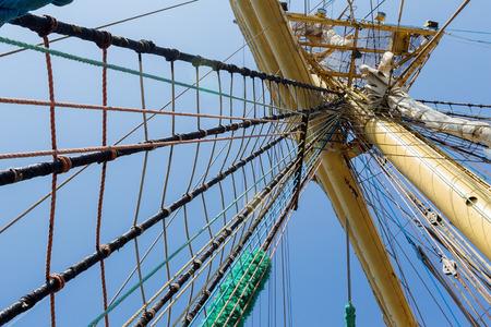Mast of old sailing ship photo