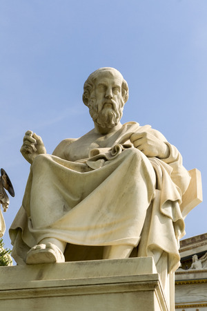 platon: statue of Plato from the Academy of Athens,Greece