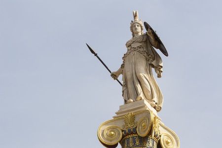 mythology: Athena statue from the Academy of Athens ,Greece