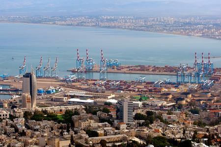 City and port of Haifa from above, Israel
