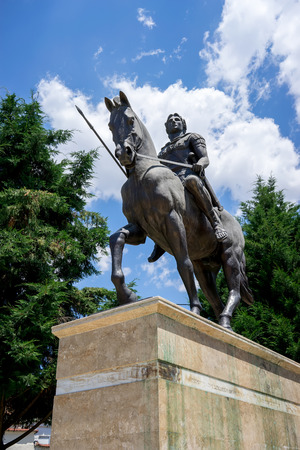 Statue of Alexander the Great at Giannitsa city in Greece Stock Photo - 30015934