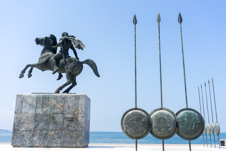 Alexander the Great, Spears of his soldiers, Thessaloniki, Greece Stock Photo