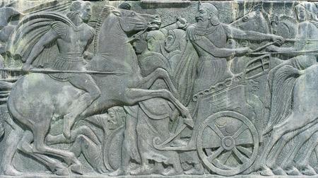 Grecque antique plaque ressemblent à monument Alexandre le Grand à Thessalonique, en Grèce Banque d'images