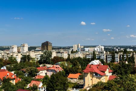 Vue aérienne du paysage Chisinau, Moldavie.