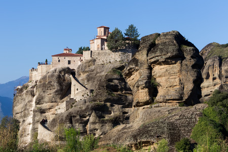 panoramatic: The Holy Monastery of Varlaam, in Greece. The Holy Monastery of Varlaam is the second largest monastery in the Meteora complex. It was built in 1541 and embellished in 1548.