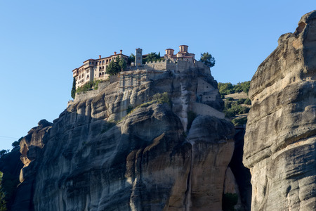 The Holy Monastery of Varlaam, in Greece. The Holy Monastery of Varlaam is the second largest monastery in the Meteora complex. It was built in 1541 and embellished in 1548.