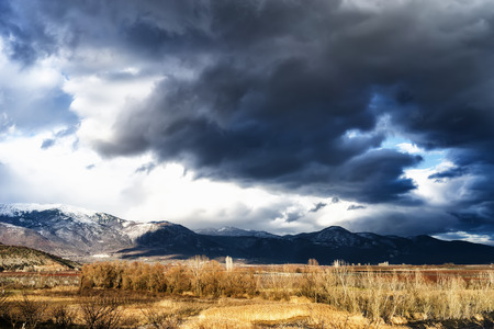 moody sky: Beautiful Landscape image of a mountain with moody sky in Greece.