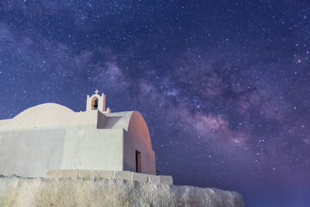 starlit: The Milky Way from Santorini island in Greece. Image taken with slow shutter speed