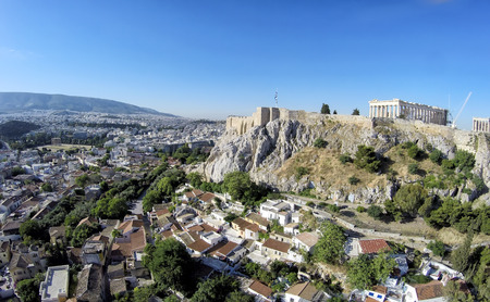 Aerial view of Acropolis in Athens,Greece photo