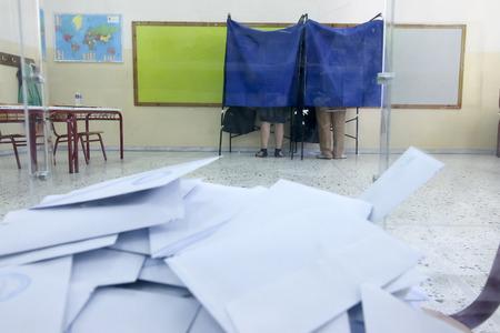 thessaloniki: THESSALONIKI, GREECE, JULY, 5 2015: Greeks vote in bailout referendum
