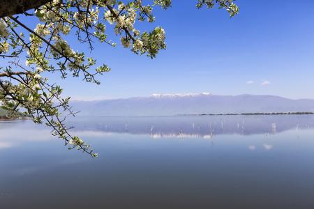 kerkini: Kerkini lake and mountain eco-area at north Greece by Struma river