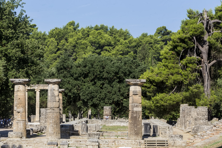 ancient buildings: Olympia, birthplace of the Olympic games, in Greece. Editorial