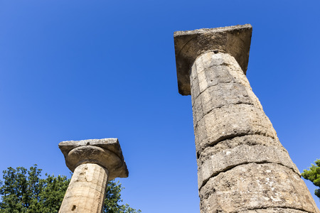 remains: Remains of Corinthian column in Olympia, Greece