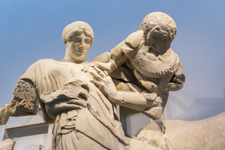 ancient olympic games: Scuffle Centauri and Lapithidas at Olympia, Greece. Editorial