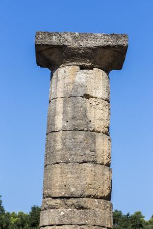 corinthian: Remains of Corinthian column in Olympia, Greece