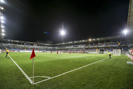 uefa: Azerbaijan, Baku - September 17, 2015: UEFA Europa League game between Qabala and PAOK, in Baku, Azerbaijan.