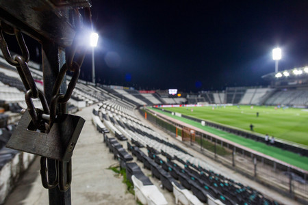locket: Thessaloniki, Greece- June 2, 2015: Locket at Toumba stadium during team practice in Thessaloniki, Greece. Image with shallow depth of field
