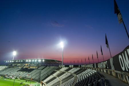 thessaloniki: Thessaloniki, Greece- March 3, 2015: The Toumpa stadium during team practice in Thessaloniki, Greece.