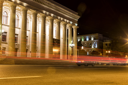 baku: Azerbaijan, Baku - September 16, 2015: City view of the capital of Azerbaijan, Baku at night, in Azerbaijan.