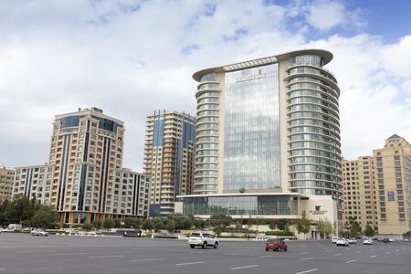 baku: Azerbaijan, Baku - September 16, 2015: City view of the capital of Azerbaijan, Baku, in Azerbaijan. Editorial