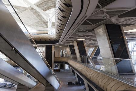 light duty: Interior of Heydar Aliyev International Airport in Azerbaijan.