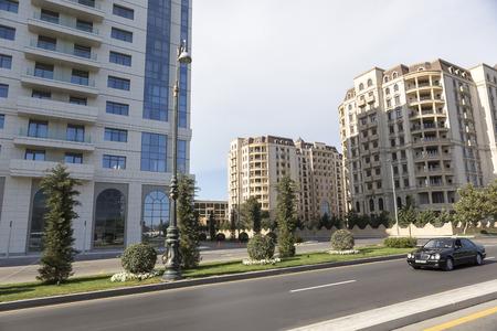 baku: Azerbaijan, Baku - September 16, 2015: City view of the capital of Baku, in Azerbaijan. Editorial