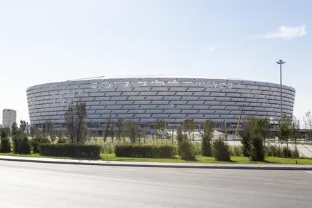 baku: View of Baku National Stadium in Baku, Azerbaijan.