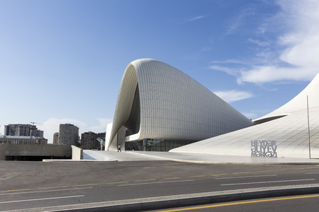 azeri: Azerbaijan, Baku - September 16, 2015: Heydar Aliyev Center in Baku, Azerbaijan. Heydar Aliyev Center won the Design Museums Designs of the Year Award in 2014