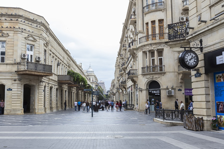 impressive: Azerbaijan, Baku - September 16, 2015: View of the architecture, streets, and buildings in Baku, in Azerbaijan.